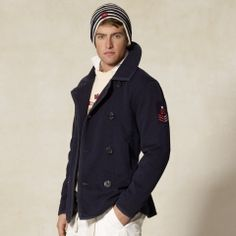 Royal Navy Fleece Peacoat from Rugby, for those who love peacoats but find them too warm to wear during Spring.