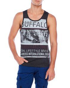 Buffalo David Bitton Nehon Distressed Graphic Tank