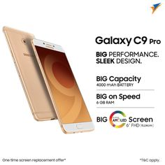 The wait is finally over!!! Presenting the all new #superphone #Samsung Galaxy C9 Pro packed with Big Performance and Sleek Design...The Slim, Powerful & spectacular... NOW available for pre-booking at #SangeethaMobiles...