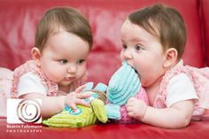 Baby twin girls & Owls
