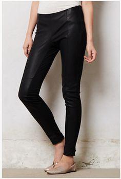 Anthropologie Vegan leather leggings