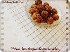 Nice e Ana, temperado com carinho...: Cookies de Chocolate e Coco.