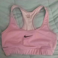 Nike dry fit sports bra Bottom left of the band says nike fit very slight cracking. Size medium always lower prices through ????y????l. Used lightly too small on me. Nike Intimates & Sleepwear Bras
