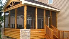 A porch is an area connected to the home which features a covered roof that is supported by columns, posts, or walls Screened In Porch Diy, Diy Porch, Front Porch, Rustic Wood Floors, Sliding Screen Doors, Log Siding, Porch Addition, Privacy Screen Outdoor, Shade Structure