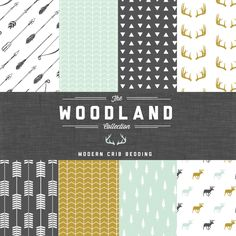 The Woodland Collection Crib Bedding Set - Modern Custom Crib Bedding - Choose your fabric - CozybyJess Exclusive by CozybyJess on Etsy https://www.etsy.com/listing/194453200/the-woodland-collection-crib-bedding-set