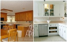 final before/after Virginia home tour - I so want to makeover my kitchen -- some great ideas on this blog.