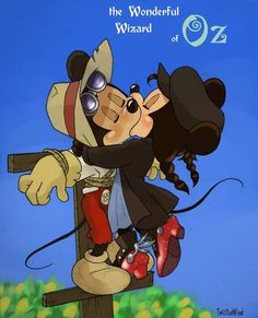 *MICKEY  MINNIE ~ love for a Scarecrow. I don't know if I should pin this here or on the Disney board!