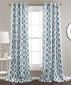 Look what I found on #zulily! Blue Bret Curtain Panel - Set of Two #zulilyfinds