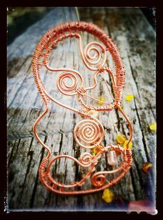 Wire wrapped copper tiki tikikiwi.com