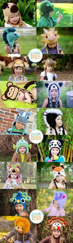 Crochet Animal Hat Patterns by @IraRott® --> https://irarott.com/categories/all