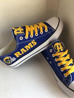 LA Rams tennis Shoes by sportshoequeen on Etsy La Rams 2ecea5cd1