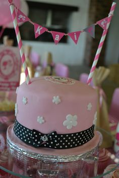 Barbie cake with bunting