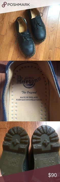Dr. Martens MADE IN ENGLAND 1461 oxfords. Rare Dr. Martens made in England oxfords! Bought them online a few months ago but they are too small for me. US SIZE 8, UK SIZE 6, EUR 39. It is rare to find Docs made in England and as lucky as I was to find these it's pointless for me to keep them. If they're your size and you like them, GET THEM! You won't find them again. They are gently used, but as you can see in the pictures the sole is in perfect condition. They need some buff and shine but…