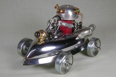 """""""ROBOT CAR"""" Found Object Robot Sculpture"""