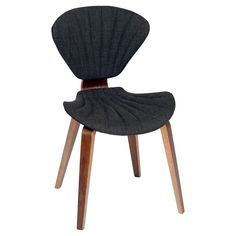 Lisa Modern Chair Fabric And Walnut Wood Charcoal - Armen Living, Adult Unisex, Grey Mid Century Dining Chairs, Mid Century Chair, Dining Room Chairs, Side Chairs, Dining Furniture, Dining Area, Office Furniture, Contemporary Dining Chairs, Modern Chairs