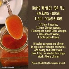 Chest Congestion Remedies Home Remedy Flu - Learn how to make the famous Fire Cider Recipe that is legendary. This is the master tonic that can keep the worst colds and flu at bay. Watch the video. Home Remedies For Flu, Holistic Remedies, Natural Health Remedies, Natural Cures, Herbal Remedies, Natural Treatments, Natural Foods, Homemade Cough Remedies, Natural Healing