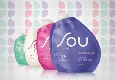 Kit Cuidados Diários Cabelos Cacheados SOU - Sabonete líquido + Hidratante + Shampoo + Condicionador