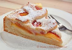 Manus Küchengeflüster: Nektarinen-Pudding-Kuchen