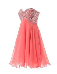 Dressystar Sweety Girls Cocktail Homecoming Gowns Prom Pageant Dress Lace-up Size 8 Ivory