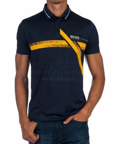 Polo HUGO BOSS ® Pavotech ✶ Azul Marino | ENVÍO GRATIS Hugo By Hugo Boss, Camisa Polo, Mens Polo T Shirts, Tee Shirts, Polo Shirt Design, Lacoste, Ralph Lauren, Nike Outfits, Summer Shirts