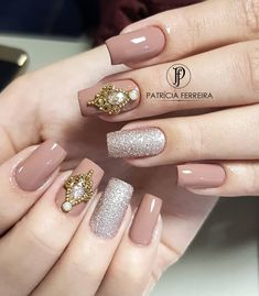 Diy Nails, Cute Nails, Pretty Nails, Nail Selection, Finger Nail Art, Luxury Nails, Dream Nails, Nail Accessories, Powder Nails