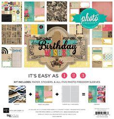 Echo Park > Photo Freedom > Birthday Wishes > Birthday Wishes Collection Kit - Photo Freedom - Echo Park: A Cherry On Top