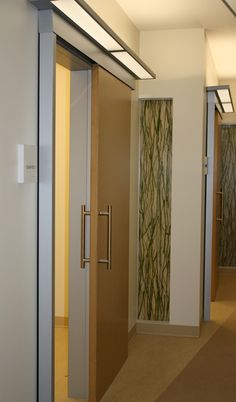 Sliding barn door for medical offices and meeting rooms