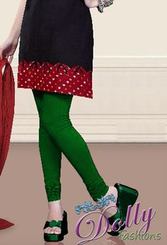 Soft 4-way Lycra Stretchable Legging in Green