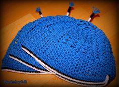 Crochet Estonian colours children hat!