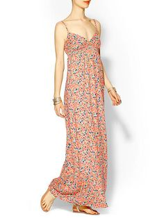 Piperlime | Watercolor Floral Maxi Dress