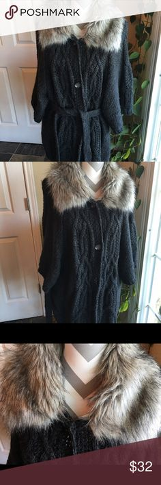 Spotted while shopping on Poshmark: Loft sweater w/ faux fur collar! #poshmark #fashion #shopping #style #LOFT #Sweaters