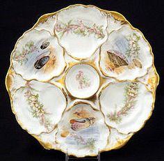 Ahrenfeldt Limoges Oyster Plate with Sea Life (item #672099)