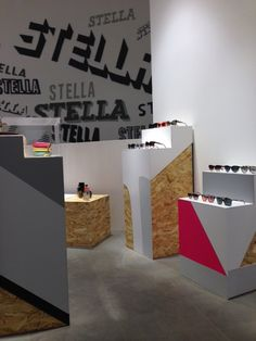 Our Stella McCartney pop-up store in Milan styled with bold 'Stella' graffiti.