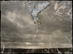 Anselm Kiefer, Strike, Lead, shellac, synthetic adhesive and graphite on photograph, mounted on canvas