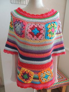 lucky me...Don't like the colors, but like the idea for a poncho style thingy