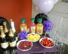 Mimosa bar AND recipe box! Need recipes!!