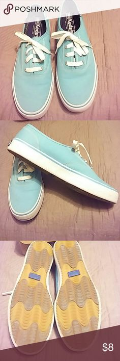 Keds Double Dutch Aqua sneakers like new 8M Worn once. The double dutch style. Color is aqua. Bought to wear with an outfit and never wore again. Keds Shoes