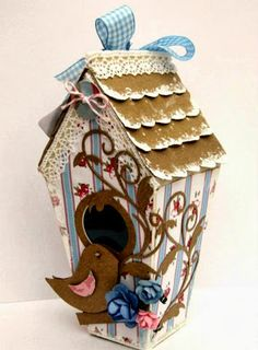 Dream Laine: Shaby Chic Bird House sneak peek project for Crafter's Companion Birthday Week Preview.