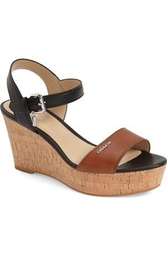 COACH 'Fran' Quarter Strap Platform Sandal (Women). #coach #shoes #sandals