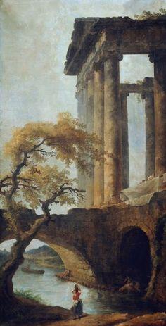 Hubert Robert - Le Temple de Saturne, c1785