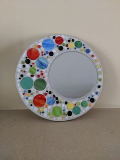 Items similar to Stained glass mirror, mosaic mirror, circular stained glass mosaic, wall hanging mirror bubbles on Etsy Stained Glass Mirror, Stained Glass Birds, Stained Glass Suncatchers, Mirror Mosaic, Mosaic Wall, Fused Glass, Mosaic Flower Pots, Mosaic Pots, Pebble Mosaic