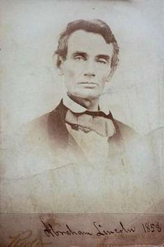 """Abraham Lincoln didn't grow a beard until after his 1860 election as president. This photo is part of the Indiana State Museum exhibit, """"The Lincolns: Five Generations of an American Family."""" It opens Feb. 9, 2013. From the Indy Star"""