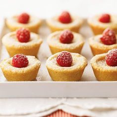 Enjoy these Double-Almond and Raspberry Blossoms at your patriotic celebration! More festive 4th of July desserts: http://www.bhg.com/holidays/july-4th/recipes/july-4th-desserts/?socsrc=bhgpin062013paspberryblossoms=18