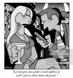 """""""Let me give you a fake e-mail address as well—just to drive home the point."""" Cartoon Photo, A Cartoon, Political Cartoons, Funny Cartoons, New Yorker Cartoons, Relationship Problems, The New Yorker, Projects To Try, Birds"""