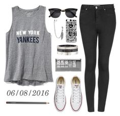 """""""06/08/2016"""" by apcquintela ❤ liked on Polyvore featuring Old Navy, Converse, Topshop, Boohoo, MAC Cosmetics, Cartier and Bling Jewelry"""