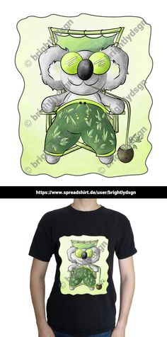 Get this cute koala design on various shirts, hoodies and other accessories - for kids, babies and people with a yound mind! The koala's on it's summer beach vacation, drinking a eucalyptus cocktail and relaxing! Other Accessories, Fashion Accessories, Nice Designs, Animal Fashion, Typography Prints, Summer Beach, Drinking, Shirt Designs, Baby