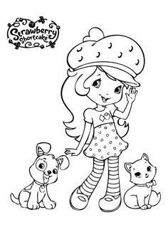 Pies I Kot Truskawkowe Ciastko > Kolorowanki Dla Chłopców