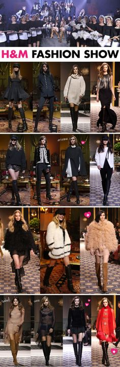desfile, H&M, Paris fashion week, passarela, Bordados, franjas, recortes, bota cano alto,  tendências, outono 2013,