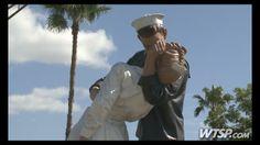 "Unconditional Surrender: Famous WWII ""Kissing Sailor"" reunion at giant Sarasota sculpture"