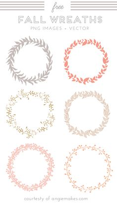 Enjoy This Cute, Free Wreath Clip Art. PNG Images and EPS Vector File are Both Included. Say Thanks For The Free Download by Following and Sharing This Link